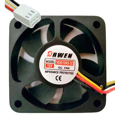 FAN 50MM 3PIN ARWEN VD5010HS 6000RPM BUJE