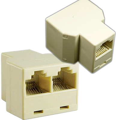 EMPALME PARA CABLES PATCHCORD LINEALES RJ45 DOBLE