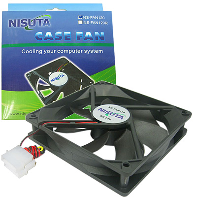 FAN 120MM 4PIN MOLEX S/LUZ BUJE NISUTA