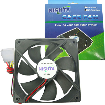 FAN 120MM 4PIN MOLEX S/LUZ RULEMAN NISUTA