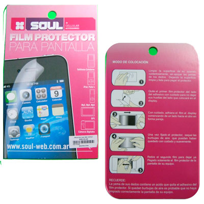 FILM PROTECTOR PANTALLA SONY XPERIA S ¡¡¡OUTLET!!!