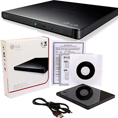 GRABADORA DVD USB 2.0 EXTERNA LG GP65NB60 BOX