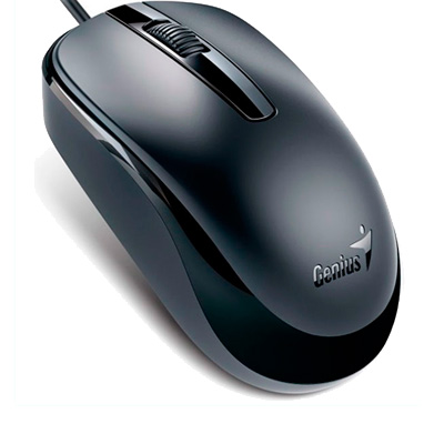 MOUSE OPTICO USB 1200 DPI GENIUS DX-120 NEGRO