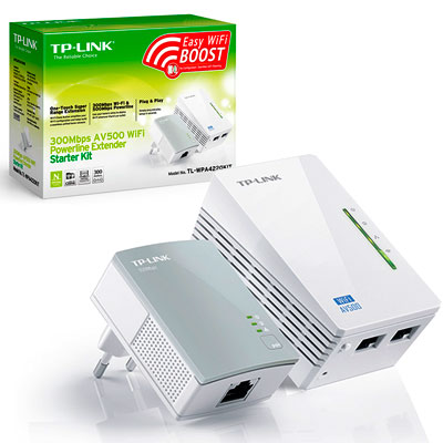 EXTENSOR REPETIDOR WIFI POR CABLEADO ELECTRICO 300 MBPS TP-LINK TL-WPA4220KIT