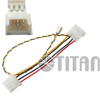 CABLE POWER P/COOLER MOLEX 4PIN MACH-HEMB A 3PIN MACHO