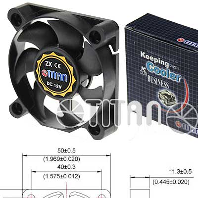 FAN 50MM 3PIN TITAN TFD-5010M12C 4500RPM RULEM