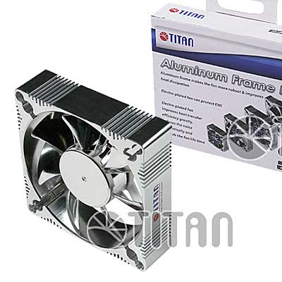 FAN  92MM 3PIN TITAN ALUM A9225M12Z S/LUZ 2200RPM RULEM
