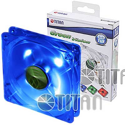 FAN 120MM 4PIN TITAN 12025GT12ZLD2 LED AZUL 1000RPM RULEM