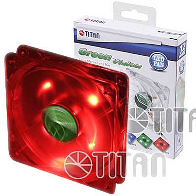 FAN 120MM 4PIN TITAN 12025GT12ZLD4 LED ROJO 1000RPM RULEM