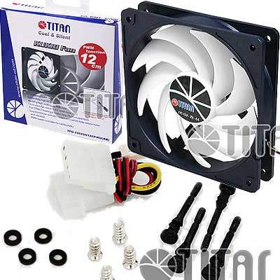 FAN 120MM 3PIN TITAN 12025SL12Z/KU(RB) S/LUZ 1300RPM RULEM