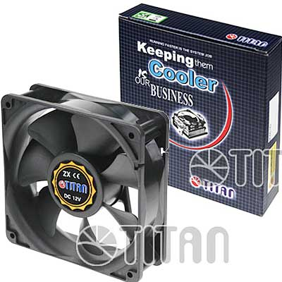 FAN 120MM 3PIN TITAN 12038H12S S/LUZ 2600RPM BUJE