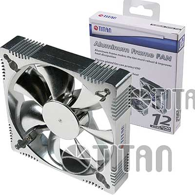 FAN 120MM 3PIN TITAN ALUM A12025M12Z S/LUZ 2200RPM RULEM
