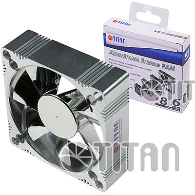 FAN 80mm 3PIN 25mm ESPESOR 2500RPM ALUM RULEMAN TITAN