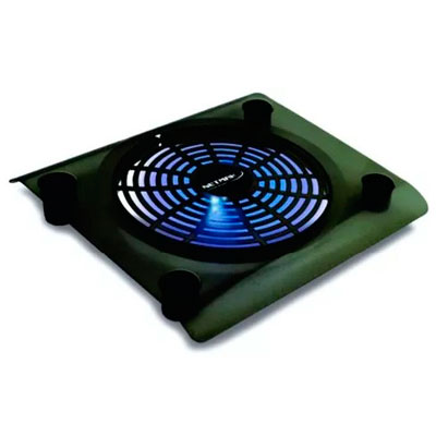 BASE PARA NOTEBOOK NETMAK 1 VENTILADOR 14 cm LUZ LED NM-N104