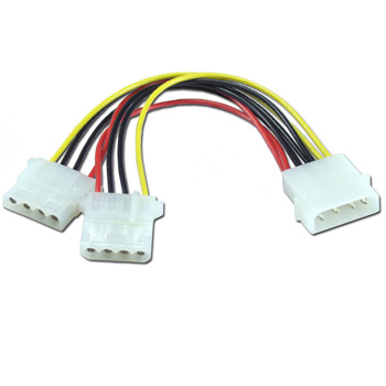 CABLE POWER MOLEX 4PIN MACHO A 2xMOLEX 4PIN HEMBRA