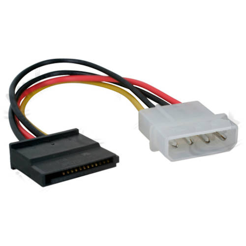 CABLE SATA POWER (MOLEX MACHO A SATA HEMBRA)