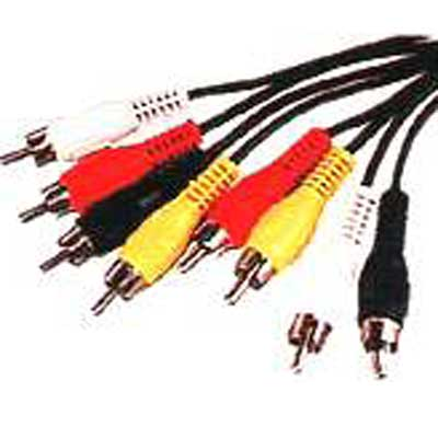 CABLE RCA CUADRUPLE  MACHO-MACHO 1,8 MTS