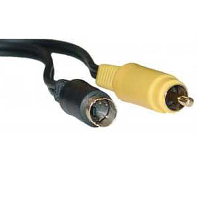CABLE S-VIDEO 4PIN MACHO A RCA 1,8 MTS