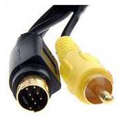CABLE S-VIDEO 7PIN MACHO A 1 RCA MACHO 1,8 MTS