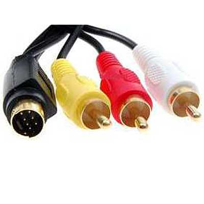 CABLE S-VIDEO 7PIN MACHO A 3 RCA MACHO 1,8 MTS