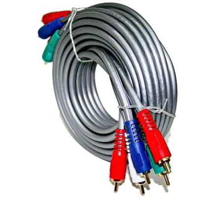 CABLE  VIDEO COMPONENTE MACHO-MACHO 3,6 MTS ALTA CALIDAD