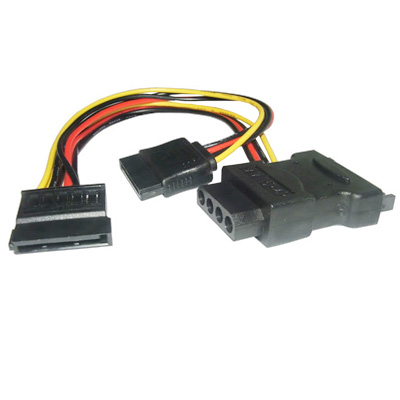CABLE SATA POWER (SATA MACHO A 2 SATA HEMBRA + 1 MOLEX HEMB)