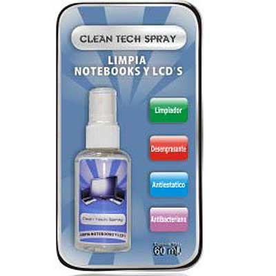 LIMPIA NOTEBOOKS Y LCD CLEAN TECH SPRAY 60ML