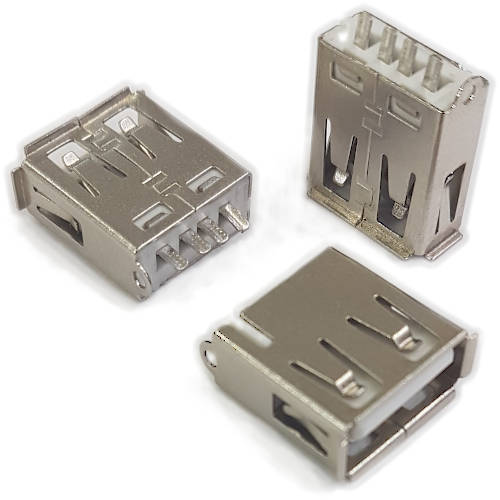 CONECTOR FICHA USB 2.0 A HEMBRA A CHASIS FRONTAL