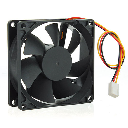 FAN 80mm 3PIN 25mm ESPESOR 3200RPM BUJE 12V ARWEN