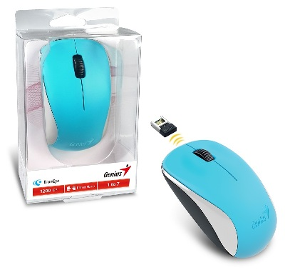 Mouses Inalambricos MOUSE INALAMBR OPT 1200 DPI 3BOT BLUEEYE GENIUS NX-7000 AZUL