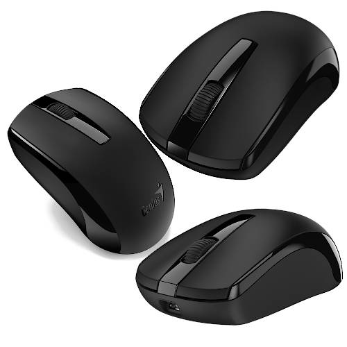 MOUSE INALAMBR OPT 1600 DPI 3 BOT RECARGABLE GENIUS ECO-8100