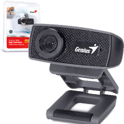 WEBCAM HD 720P CON MIC GENIUS FACECAM 1000X V2 MF/USB 2.0/UV